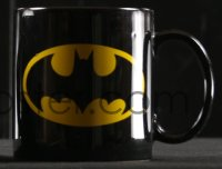 5c004 BATMAN 2 coffee mugs 1964 & 1989 Batmobile and logo from two completely different eras!