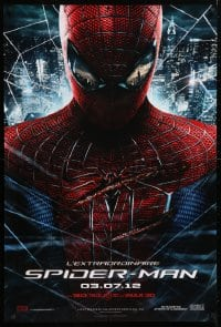 5f062 AMAZING SPIDER-MAN IMAX teaser DS Canadian 1sh 2012 Andrew Garfield over city!