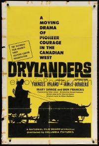 5f066 DRYLANDERS Canadian 1sh 1963 Don Haldane drama of pioneer courage in the Canadian west!
