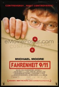 5f068 FAHRENHEIT 9/11 DS Canadian 1sh 2004 Michael Moore documentary about September 11, 2001!