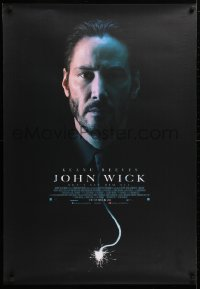 5f070 JOHN WICK advance Canadian 1sh 2014 cool close up of Keanu Reeves with burning fuse tie!