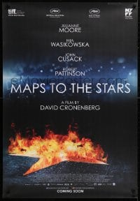 5f072 MAPS TO THE STARS advance Canadian 1sh 2014 Cronenberg, Moore, Wasikowska, Cusack!