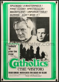 5f060 CATHOLICS Canadian 1973 great completely different image of Martin Sheen, Trevor Howard!