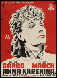 5f031 ANNA KARENINA Danish R1953 beautiful Greta Garbo, Fredric March, different art!