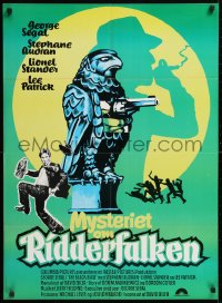 5f032 BLACK BIRD Danish 1976 George Segal, slapstick Maltese Falcon parody, great wacky art!