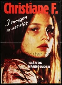 5f033 CHRISTIANE F. Danish 1981 classic German drug movie about 13 year-old addict/hooker!