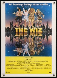 5f035 WIZ Danish 1978 Diana Ross, Michael Jackson, Richard Pryor, Wizard of Oz, art by Bob Peak!