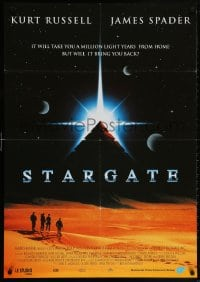 5f040 STARGATE Dutch 1994 Kurt Russell, James Spader, a million light years from home!