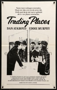 5f041 TRADING PLACES Dutch 1983 Dan Aykroyd & Eddie Murphy are getting rich & getting even!