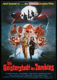 5f076 BEYOND German 1981 Lucio Fulci, completely different art of zombies and victims on the run!