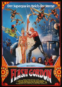5f079 FLASH GORDON German 1981 Mike Hodges, different art of Sam Jones & sexy Ornella Muti!