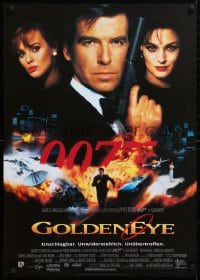 5f080 GOLDENEYE German 1995 cool image of Pierce Brosnan as secret agent James Bond 007!