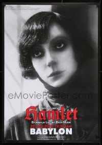 5f081 HAMLET German R2018 great close-up image of Asta Nielsen in the title role!