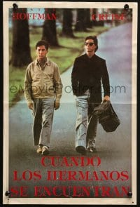 5f012 RAIN MAN South American 1988 Tom Cruise & autistic Dustin Hoffman, directed by Barry Levinson!