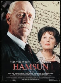 5f048 HAMSUN Swedish 24x33 1996 Jan Troell directed, cool portrait of Max von Sydow & Ghita Norby!