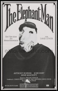 5f027 ELEPHANT MAN Swiss 1980 John Hurt is not an animal, Anthony Hopkins, directed by David Lynch!