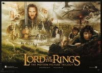 5f029 LORD OF THE RINGS TRILOGY Swiss 2003 Peter Jackson, Tolkein, cool montage image!