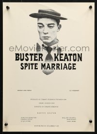 5f030 SPITE MARRIAGE Swiss R1974 great image of stone-faced Buster Keaton!