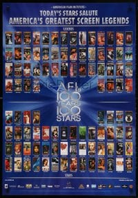5g055 AFI'S 100 YEARS 100 STARS 27x39 video poster 1999 classic posters w/Gilda, Casablanca & more