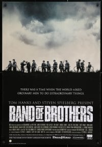 5g056 BAND OF BROTHERS 27x40 Canadian video poster 2001 Damian Lewis, Donnie Wahlberg