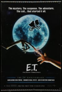 5g059 E.T. THE EXTRA TERRESTRIAL lenticular 27x40 video poster R2001 Spielberg, bike over moon image!