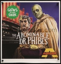 5g016 ABOMINABLE DR. PHIBES signed 15x15 art print 2000s by artist Chris Roberts, different!