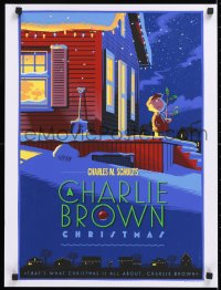 5g018 CHARLIE BROWN CHRISTMAS 18x24 art print 2012 Dark Mansions, art by Laurent Durieux!