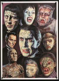 5g019 CHRIS ROBERTS 18x26 art print 2004 cool art from Hammer horror films, Cushing, Lee and more!