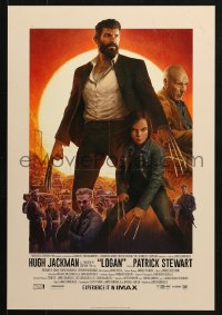 5g034 LOGAN IMAX mini poster 2017 Jackman in the title role as Wolverine, claws out, top cast!