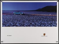 5g048 PORSCHE 30x40 German advertising poster 1990s great image of the 911 Cabriolet!