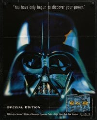 5g051 STAR WARS CUSTOMIZABLE CARD GAME 22x28 advertising poster 1998 Darth Vader, discover the power!