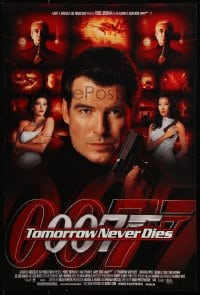 5g035 TOMORROW NEVER DIES mini poster 1997 Brosnan as Bond, Michelle Yeoh, sexy Teri Hatcher!