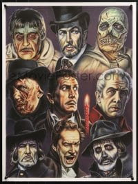 5g026 VINCENT PRICE 19x25 art print 2010 different horror art from many roles by Chris Roberts!