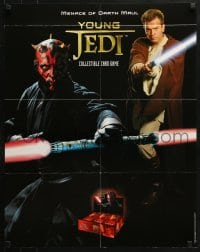 5g054 YOUNG JEDI 22x28 advertising poster 1999 Darth Maul and Obi Wan with lightsabers!