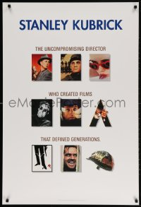 5g065 STANLEY KUBRICK COLLECTION 27x40 video poster 1999 Paths of Glory, Dr. Strangelove, 2001!