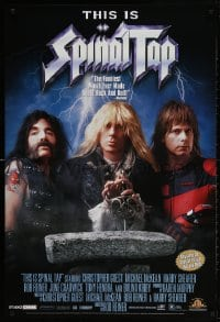5g068 THIS IS SPINAL TAP 27x40 video poster R2000 Rob Reiner heavy metal rock & roll cult classic!