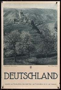 5g071 DEUTSCHLAND Cochem Castle 20x29 German travel poster 1930s great images from Germany!