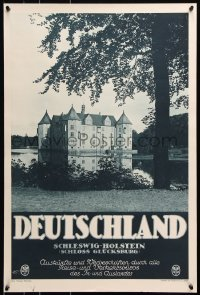 5g072 DEUTSCHLAND Glucksburg Castle 20x29 German travel poster 1930s great images from Germany!
