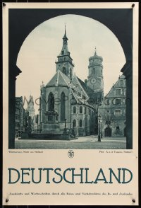 5g073 DEUTSCHLAND Stuttgart Square 20x29 German travel poster 1930s great images from Germany!