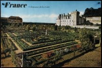 5g076 FRANCE Chateaux de la Loire gardens style 16x24 French travel poster 1972 great images!