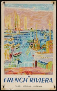 5g079 FRENCH NATIONAL RAILROADS 24x39 French travel poster 1953 French Riviera by Jean Cavailles!