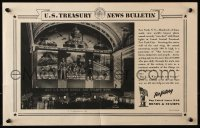 5g011 U.S. TREASURY NEWS BULLETIN 15x19 WWII war poster 1940s image of the mural on display!