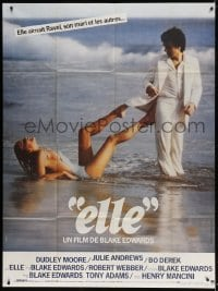 5j031 '10' French 1p 1979 Blake Edwards, best image of Dudley Moore & sexy Bo Derek on beach!