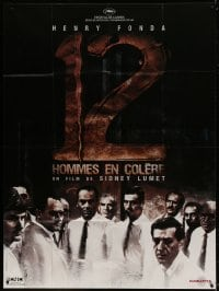 5j032 12 ANGRY MEN French 1p R2000s Henry Fonda, Sidney Lumet jury classic, cool different image!