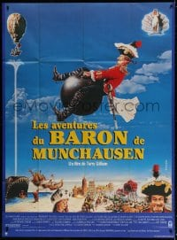 5j043 ADVENTURES OF BARON MUNCHAUSEN French 1p 1988 directed by Terry Gilliam, John Neville!