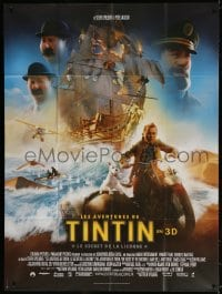 5j046 ADVENTURES OF TINTIN French 1p 2011 Steven Spielberg's CGI version of the Belgian comic!