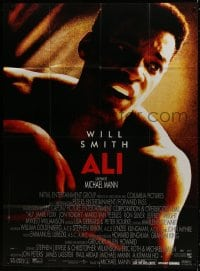 5j051 ALI French 1p 2002 Will Smith as heavyweight champion boxer Muhammad Ali, Michael Mann