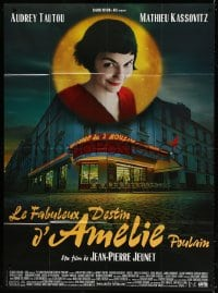 5j062 AMELIE French 1p 2001 Jean-Pierre Jeunet, great photo of Audrey Tautou by Laurent Lufroy!