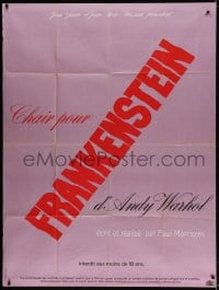 5j069 ANDY WARHOL'S FRANKENSTEIN French 1p 1974 directed by Paul Morrissey, different!