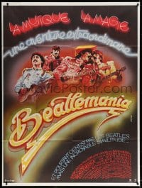 5j108 BEATLEMANIA French 1p 1982 different artwork of The Beatles impersonators by Konkoly!